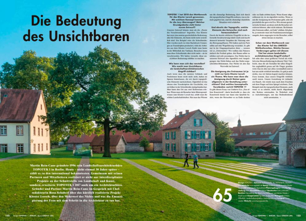 Interview mit Martin Rein-Cano, Partner bei TOPOTEK 1 über das Kloster Lorsch und die Bedeutung des Unsichtbaren.